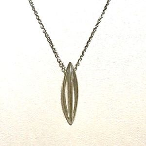 Jewelry - Sterling Open Solitaire Marquise Necklace